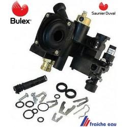 bloc hydraulique BULEX S 1005300, embase de circulateur avec purgeur , clips et joints