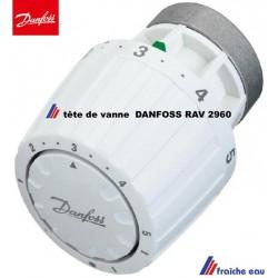 tête thermostatique DANFOSS  pour vanne  radiateur RA  V 2960 , poignée de vanne avec thermostat réglable de radiateur