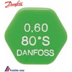 gicleur DANFOSS avec système anti goutte cône HLE -SLE de 60°-80° de 0,40 à 0,50 gal/h à charleroi , tournai
