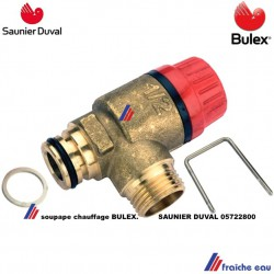 soupape de sécurité chauffage BULEX 0572800  , groupe de décharge de surpression SAUNIER DUVAL  réglé à 3 bars