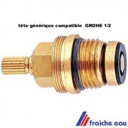 """tête de robinet 1/2"""" a joint  universelle pièce générique compatible pour robinet mélangeur grohe"""