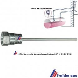 sifflet pour indiquer la limite de remplissage de citerne fuel  5/4 x 6/4 h  350 mm