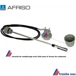 sécurité de limite de remplissage de la cuve à mazout avec fiche pour le livreur de carburant