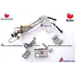 bloc veilleuse et electrode d'allumage BULEX   05301800 , kit veilleuse OPALIA  pour SAUNIER DUVAL