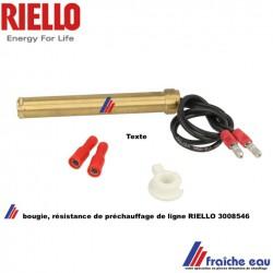 résistance , réchauffeur - bougie de préchauffage de ligne 3008546 pour brûleur mazout RIELLO