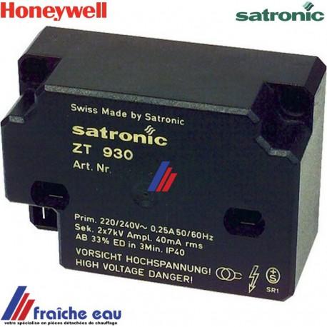 transformateur d'allumage haute tension 2 pôles SATRONIC HONEYWELL  ZT 930, générateur d'étincelle à haute fréquence  ELCO
