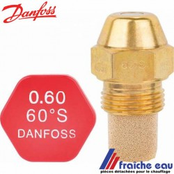gicleur DANFOSS cône S-H-SR-HR- 45°-60°-80° de 0,55 à 0,60 gal/h