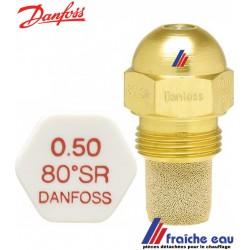 gicleur DANFOSS cône SR- capuchon blanc  -80° de  0,50 gal/h