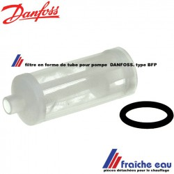 filtre , en forme de tube avec joint torique , tamis de pompe DANFOSS type BFP pour le brûleur fioul