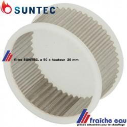 filtre de pompe du brûleur à mazout SUNTEC série AL diamètre 50 mm hauteur 25 mm