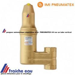 purgeur automatique, séparateur de micro bulles , dégazeur 4/4  PNEUMATEX ZUVL 25 placement vertical