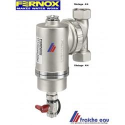 filtre à boues filetage 4/4  FERNOX OMEGA, capture la magnétite dans l'installation de chauffage