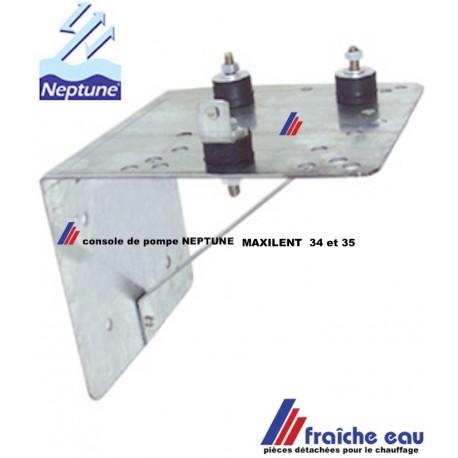 console murale de pompe NEPTUNE pour MAXILENT 34 et 35, avec silent bloc , support de groupe hydrophore
