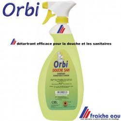 détartrant efficace pour les parois de douche et le matériel sanitaire , produit à base d'acide , pas de livraison