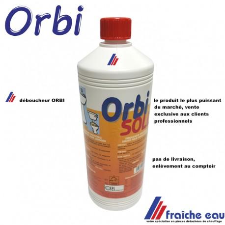 déboucheur professionnel surpuisant ORBI , flacon 1 litre , vente réservée exclusivement aux clients  avec numéro de tva