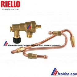 pièces détachées de chaudière , disconnecteur RIELLO avec tubes pour chaudière RESIDENCE  CONDENS