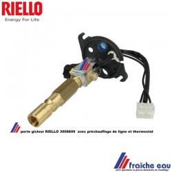 porte gicleur avec préchauffage et thermostat  RIELLO 3008809 , ligne gicleur complète de brûleur BGK 1 et 2