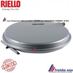vase d'expansion de chaudière murale RIELLO 8 litres R 2573  article 4364894 pour RESIDENCE CONDENS  25 KIS - 30 KIS - 30 IS