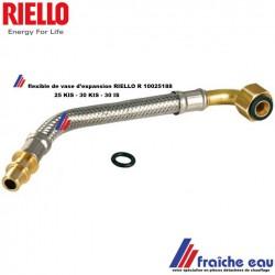 flexible de vase d'expansion RIELLO R 10025188 avec joint , flexible avec embout de raccordement spécifique