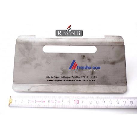 déflecteur, tôle coupe flamme de poêle à pellets RAVELLI  , 071-11-00N , blindage de protection de l'échangeur thermique