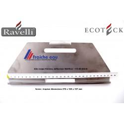 tôle coupe flamme, déflecteur de foyer à pellets RAVELLI 115-00-002-N , plaque coupe feu ,tôle de protection de l'échangeur