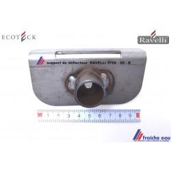 support arrière pour tôle coupe feu RAVELLI 5700 00 B  équerre  de paroi arrière du déflecteur  coupe flamme du poêle à pellets