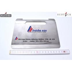 déflecteur de flamme RAVELLI 5700-00-016, tôle coupe feu de poêle à pellets, blindage de protection tnermique de l'échangeur