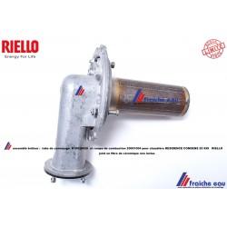 ensemble brûleur RIELLO , convoyeur R10028420 et rampe , tube de combustion 20001004