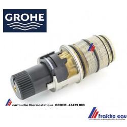 cartouche thermostatique GROHE 47439 GROHTHERM, tête avec thermostat pour robinet bain et douche