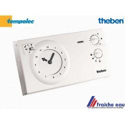 thermostat d'ambiance analogique , 3 fils horloge apparente THEBEN TEMPOLEC  722, alimentation sur secteur 220 volts
