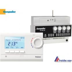 module de prorité sanitaire avec thermostat sans fil TEMPOLEC, composée du PS005 HF et thermostat d'ambiance  RAM 833 top 2 HF