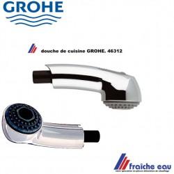 douche à main  télescopique  46312 de mitigeur de cuisine GROHE , douchette extracible de robinet