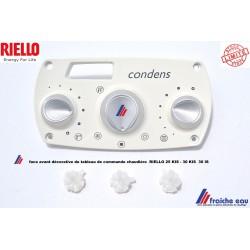 display, face avant du panneau de commande pour la chaudière RIELLO RESIDENCE CONDENS