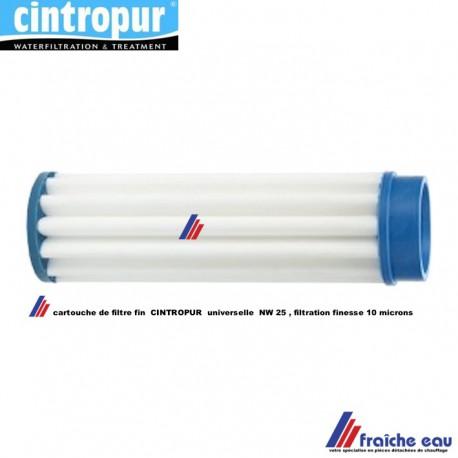 cartouche  de remplacement pour filtre CINTROPUR 10 microns pour système NW 25, échange standard de la manchette