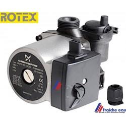 circulateur ROTEX  UPS 15 MOLEX 3 vitesses  E 1600090 avec bloc de purge  automatique