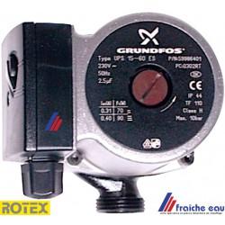 circulateur en équerre ROTEX E 1500452 , filetage 4/4 , moteur 2 vitesses  70 et 90 watts