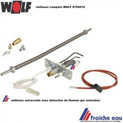 bloc veilleuse WOLF 8750018 , ce bloc de veilleuse avec électrode d'ionisation et flexible comme  veilleuse universelle