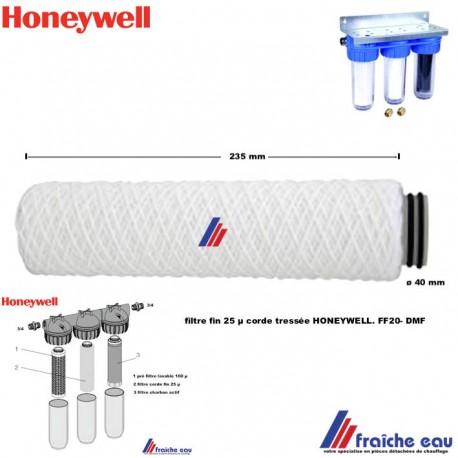 manchette filtrante de filtre sous forme de bobine TRIPLEX HONEYWELL FF40 et FF60 avec o-ring finesse 25 microns