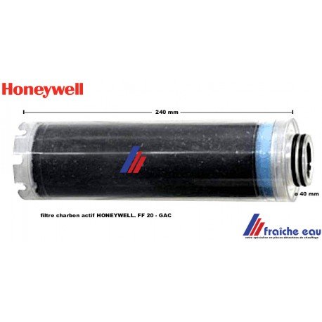 manchette filtre charbon actif végétal naturel HONEYWELL ,type FF 20 étanchéité avec 2 o rings de ø 40 mm sur le collet