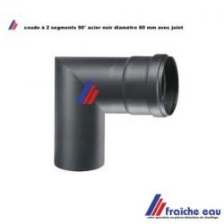 coude court à 90 degrés diamètre 80 mm ,, coude à joint  MF 2 segments