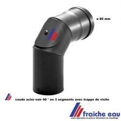 coude à 90°, courbe avec regard / accès pour l'inspection ou le ramonage