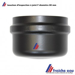 bouchon d'inspection avec  joint , acier noir diamètre F 80 mm