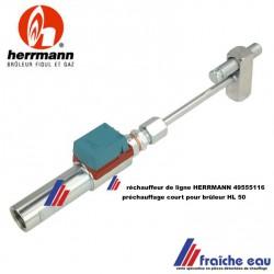 réchauffeur de ligne HERRMANN pour brûleur HL 50 avec réglage de profondeur, préchauffage DANFOSS  FPHE