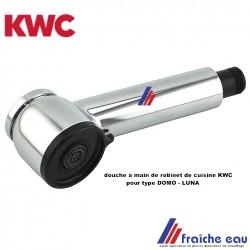 douche à main de mitigeur KWC DOMO et LUNA, douchette avec inverseur jet pluie de robinet de cuisine spécifique à la marque  KWC