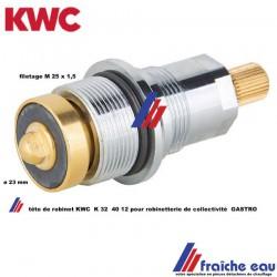 cartouche , mécanisme, tête de robinet série gastro KWC type 32-40-12 pour plonge de collectivité et restauration