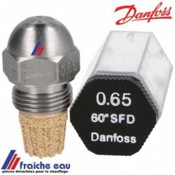gicleur DANFOSS  série HFD - SFD de 0,30 gal/h à 0,40 gal /h , injecteur de brûleur fioul, précisez l'angle, la taille, le cône