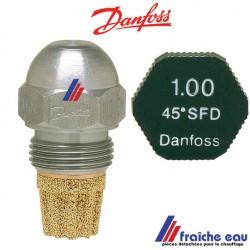gicleur DANFOSS acier , type HFD  - SFD  de 0,55 gal/h à 1 gal/ heure, spécifiez l'angle et le débit d'atomisation