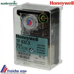relais HONEYWELL- SATRONIC,   Flammenwächter, TF 832-3 Rev A , coffret de sécurité de brûleur fioul  GIERSCH , MHG
