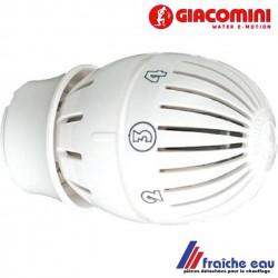 tête à clipper ,avec thermostat incorporé  R 470 pour  radiateur GIACOMINI pour le chauffage