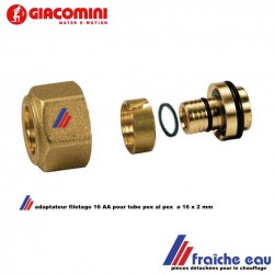ecrou universel  GIACOMINI  fieltage AA 16 x tube synthétique / mullticouche  ø 16 x 2 mm , chauffage et sanitaire